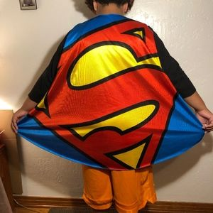 2 capes, Superman and Supergirl, one size